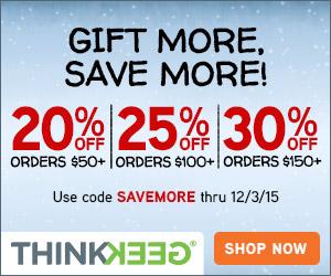 Save More at Think Geek