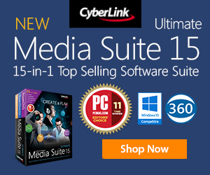 New CyberLink All in one Media suite 15