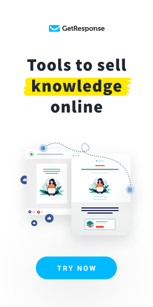 GetResponse: Sell Knowledge -Digital Marketing Tools - Try for Free!