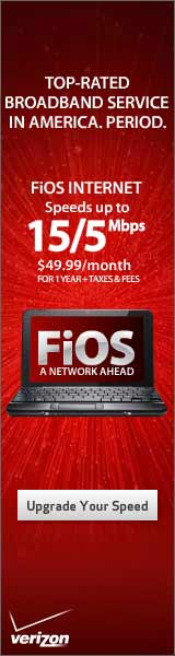 Verizon FiOS Internet  $49.99