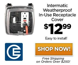 25% Off Savings on Intermatic WP1220C Weatherproof In-Use Receptacle Cover