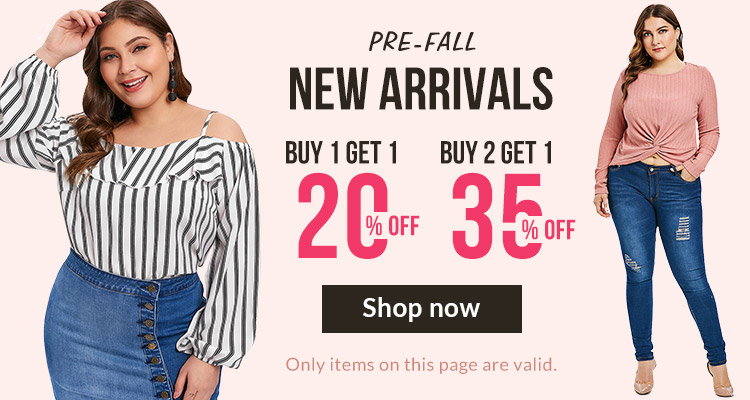 Pre-Fall New Arrivals, Buy 1 Get 1 20% OFF, Buy 2 Get 1 35% OFF.
