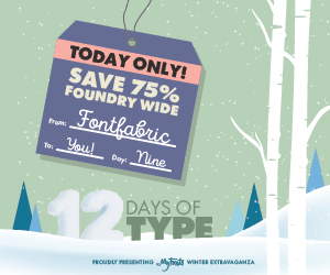 12 Days of Type Sale!