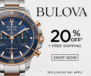 Bulova watches - 20% off and Free Shipping