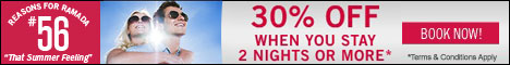 Get 30% off when you stay for 2 nights