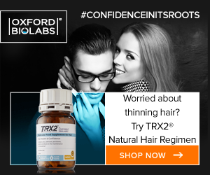Address hair loss with TRX2 capsules and lotion molecular hair regimen
