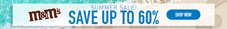 M&M'S Summer Sale! Up to 60% Off M&M'S Gifts, Chocolate, Merchandise & More! Valid 7/18-7/24!