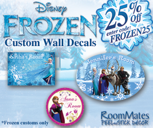 25% off All Frozen Wall Decals | From $10.87!
