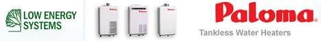 Paloma Tankless Water Heaters - Low Energy Systems