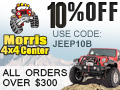 10% off with Coupon Code Jeep10B
