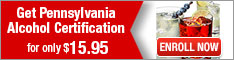 Learn2Serve- Get Pennsylvania Alcohol Certification for $15.95 234x60