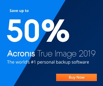 Up to 50% off | Acronis True Image 2019