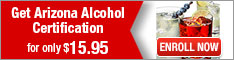 Learn2Serve- Get Arizona Alcohol Certification for $15.95 234x60