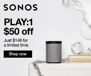 Sonos.com Black Friday & Cyber Monday Deal. $50 off Sonos PLAY:1
