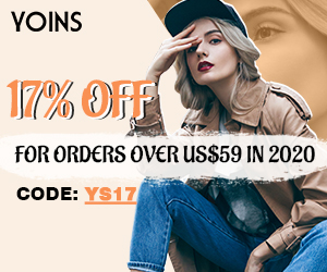 17% off for orders over US$59 in 2020