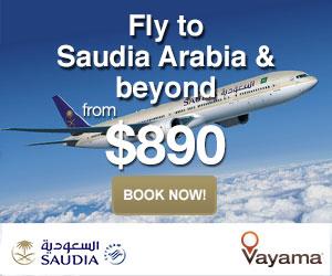 Vayama.com - Saudi Arabian Airlines -  Book Flights Around the World, Fly with Saudia!