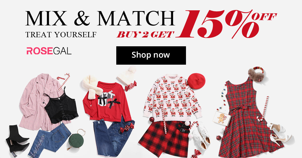 4 Styles Mix&Match Collections! Buy 2 Get 15% OFF