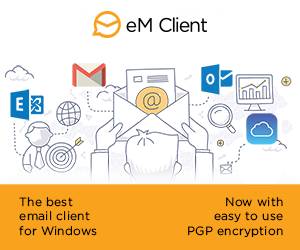Illustration of eM Client as the best email client for Windows