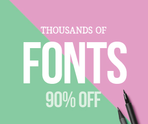 SALE!! 90% OFF Fonts & Graphics