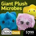 Giant Plush Microbes - We infectz u!
