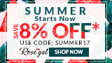 Rosegal Summer New IN: 8% OFF Use Code + FREE SHIPPING