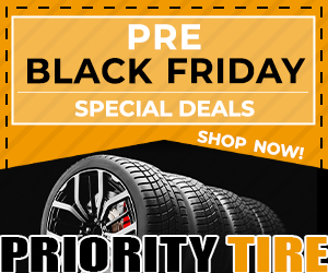 Black Friday Coupon: Get $15 off any purchase of $100 or more at PriorityTire.com!