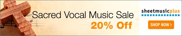 Sacred Vocal Music - 20% off