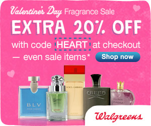 (1/27 - 2/9) 20% off all Perfumes & Colognes w/ promo code HEART