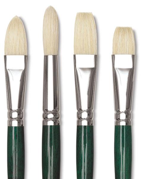 Winsor & Newton hog bristle paint brushes