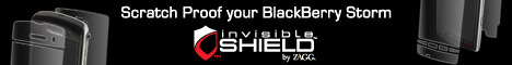 invisibleSHIELD for Blackberry Storm