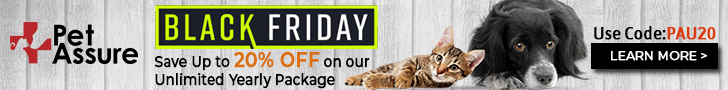 Pet Assure Black Friday 728x90 banner