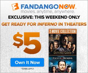 FandangoNOW - Da Vinci Code and Angels & Demons Bundle - Only $5