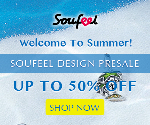 Welcome to summer! Soufeel design presale, up to 50% off! Limited time offer at Soufeel.com
