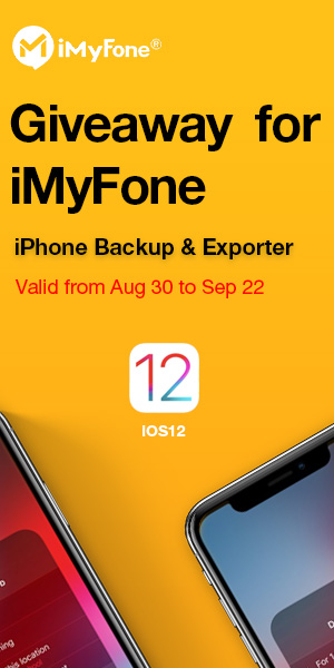 Giveaway for iMyFone iPhone Backup & Exporter