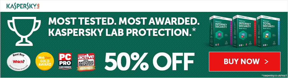 Protect your Money and Privacy Online. 30% off Kaspersky PURE 3.0