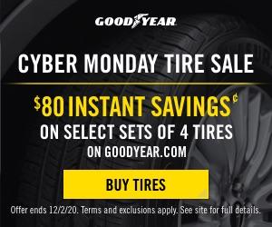 Goodyear Cyber Monday Tires Deals & Rebates 2020
