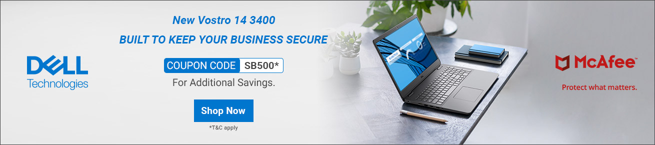 New Vostro 14 3000 Series Built to Keep Your Business Secure! Use Code SMB1000!