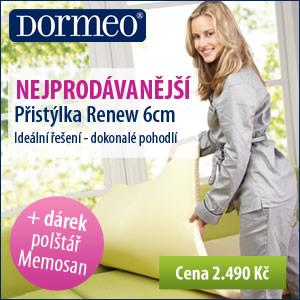 Využijte skvělých cen na přistýlky Renew od Dormeo a získejte dárek zdarma.