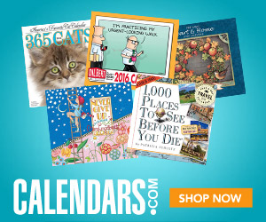 Shop 2015 Calendars Now - Free Shipping Available!