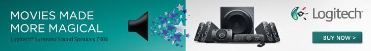 728x100 - Logitech Speaker System Z906 for £329
