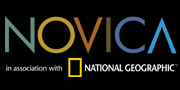 NOVICA logo with black background