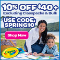 10% Off $40+ with SPRING10