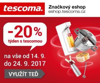 Týden s Tescomou - sleva 20% na veškeré zboží od 14.9. do 24.9.2017