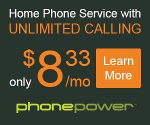 Domestic or International phone service!