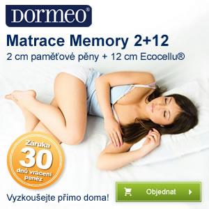 Pohodlná matrace Memory teď levně u Dormeo.cz