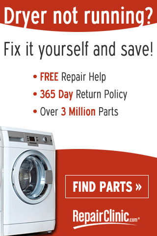 Dryer not running? - Fix it yourself! - RepairClinic